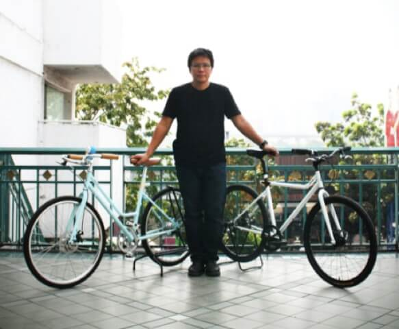 Where would you find an urban rider who would design his own bicycle to meet the demands for a good ride in Bangkok?