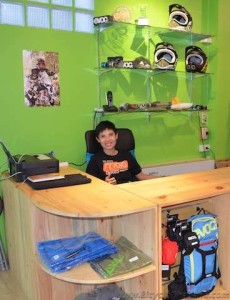 Downhill rider and shop manager Khun Mei