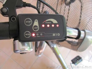 Handelbar power indicator