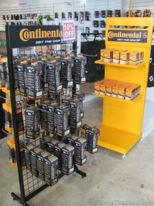 KH Cycle Continental tires display