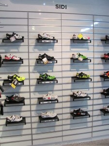 KH Cycle SIDI Shoes display