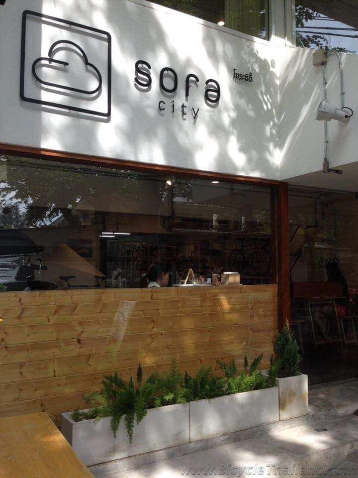 SORA CIty front of shop