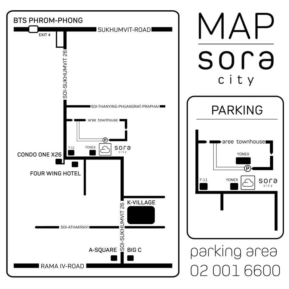 SORA City map