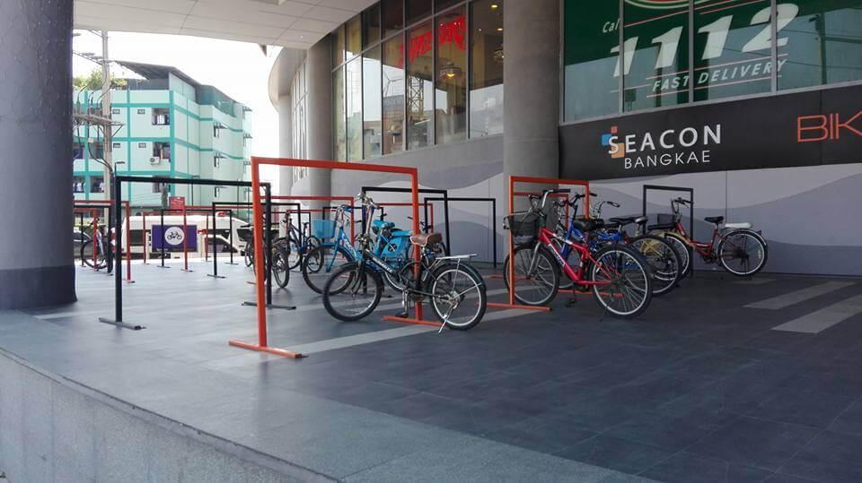 Bicycle parking racks at SEACON BANGKAE