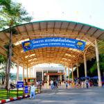 Bicycle Lane near Bung Chawak Aquarium in Suphanburi