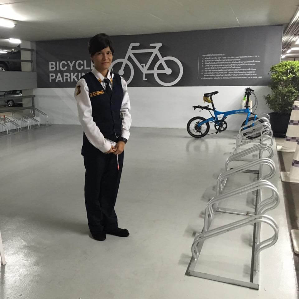 Siam Discovery bicycle parking area 1