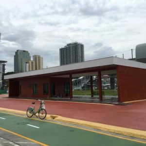 Bicycle Path at Bangkok Airport Rail Link Makkasan Station 3