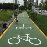 Bicycle Path at Bangkok Airport Rail Link Makkasan Station
