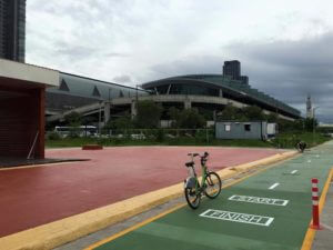 Bicycle Path at Bangkok Airport Rail Link Makkasan Station 5