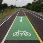 New Bicycle Path in Nonthaburi's Pak Kret District