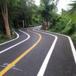Bicycle Lane at Sri Nakhon Khuean Khan Park and Botanical Garden