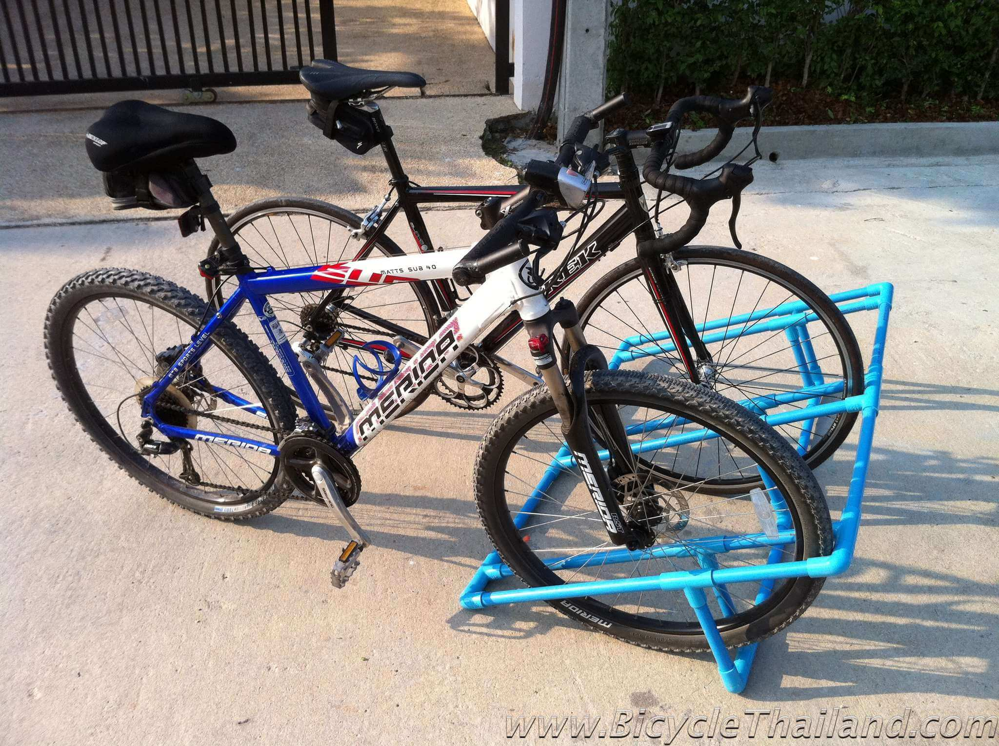 how to make a pvc bike rack bicycle thailand. Black Bedroom Furniture Sets. Home Design Ideas