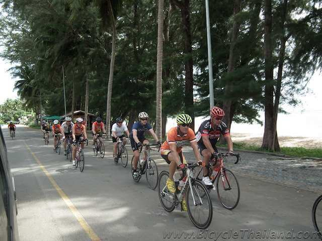 Beachfront cycling with Martin Brot leading the way