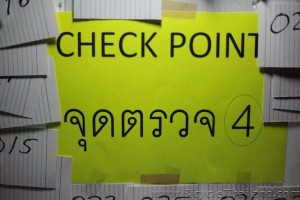 Checkpoint 4 sign hua hin alleycat 2013
