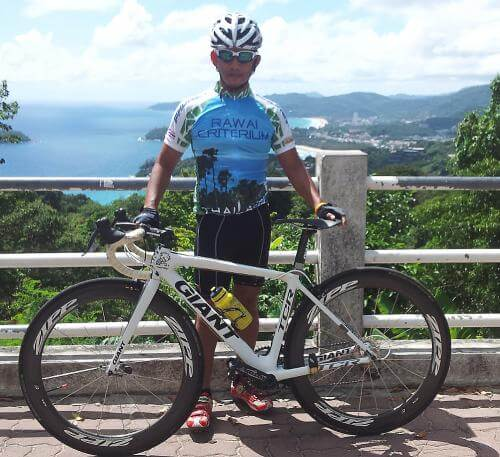 Danny Ruangkanch, 54, has been part of the Phuket Bicycle Club for over a decade. Photo: Supplied