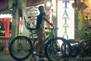 Rider at Checkpoint 4 Hua Hin Alleycat 2013