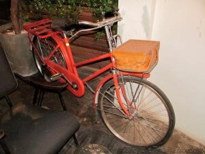 Good Mook Cafe bicycle in Kitchen area