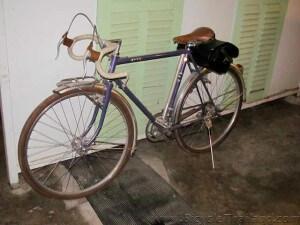 Good Mook Cafe bike near bathrooms