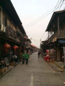 Quaint shopping street of Chiang Khan