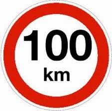 100km sign
