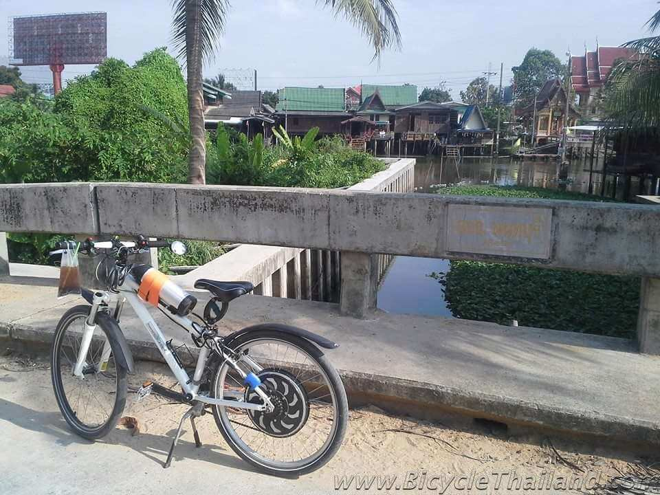 ebike on bridge