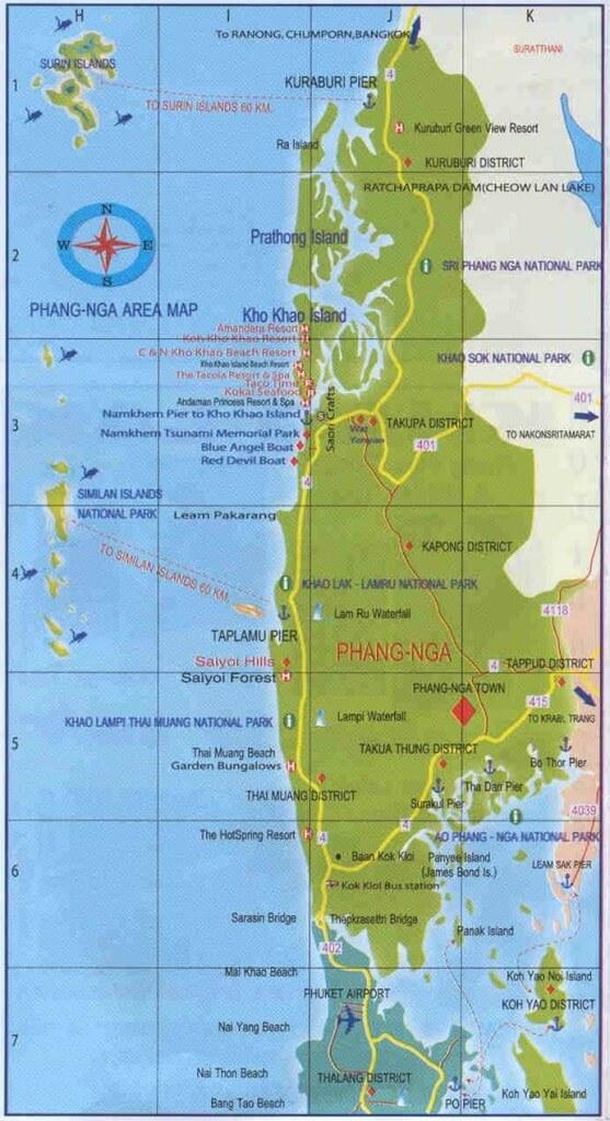 Map of Phang Nga Province