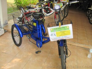 Three wheeled electric bicycle