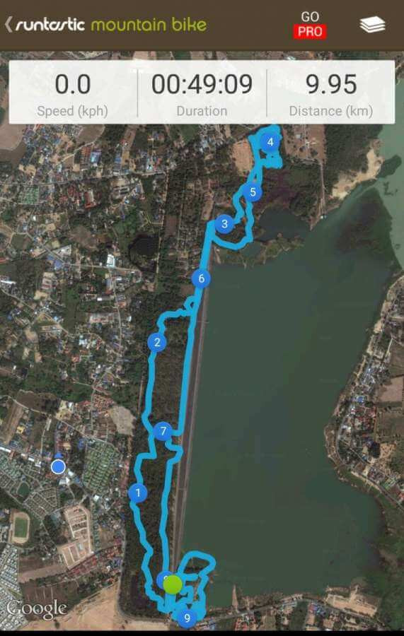 MTB Trail at Map Prachan Reservoir near Pattaya