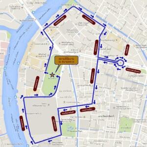 Bangkok Car Free day route