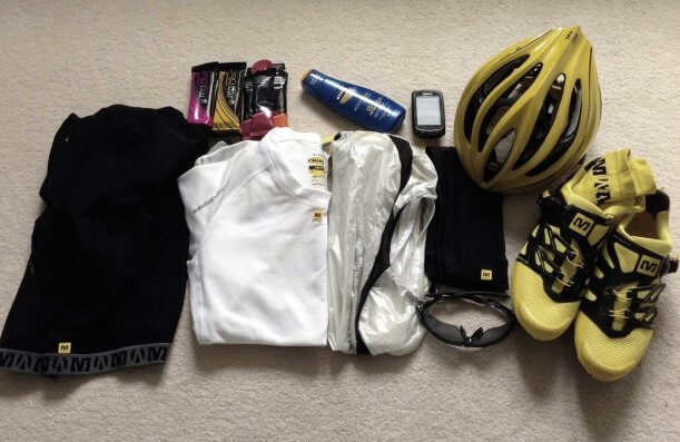 Cycling Kit Laid Out night before