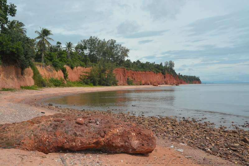 The red soil beach of Ban Fang Daeng