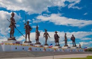 Seven Kings statues at Ratchapakti Park in Hua Hin