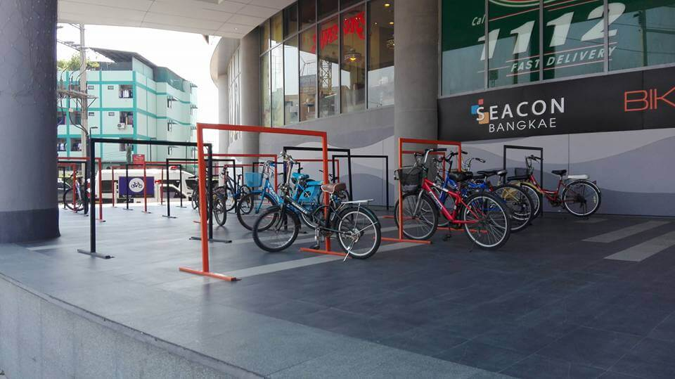 Bicycle parking racks at SEACON BANGKAE