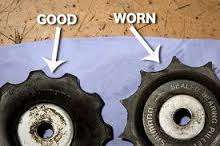 Worn jockey wheels imagewtmk