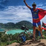 SuperCyclingMan arrives in Singapore on world cycle